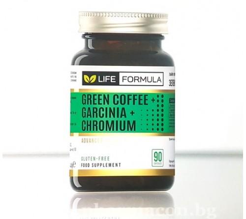 Лайф Формула Зелено кафе Гарциния Хром 90к