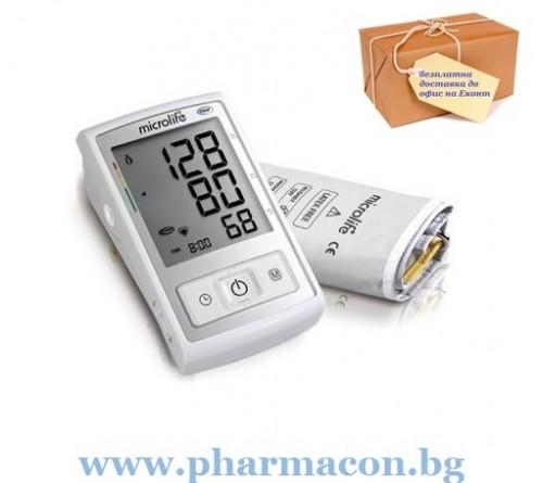 Автоматичен Апарат за измерване на кръвно налягане Microlife BP A3L Comfort  + адаптер